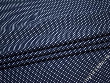 Рубашечная синяя голубая ткань геометрия хлопок ЕА373