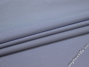 Рубашечная синяя ткань горох хлопок ЕА379