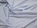 Рубашечная голубая синяя ткань геометрия хлопок эластан ЕА385