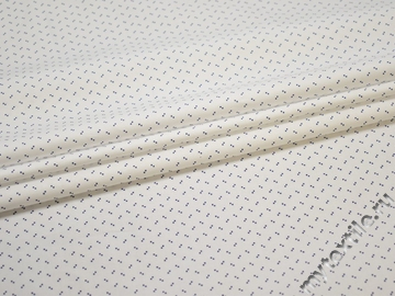 Рубашечная белая синяя ткань геометрия хлопок ЕА394