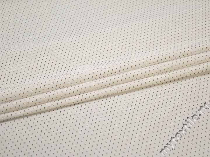 Рубашечная белая красная ткань геометрия хлопок ЕА395