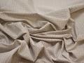Рубашечная синяя коричневая ткань узор хлопок ЕА397