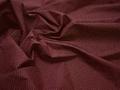 Рубашечная бордовая белая ткань круги хлопок ЕА3103