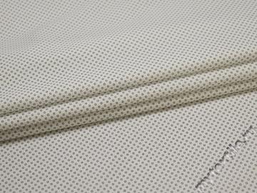 Рубашечная белая синяя ткань геометрия хлопок эластан ЕА3112