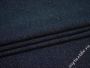 Рубашечная синяя белая ткань геометрия хлопок ЕА3127