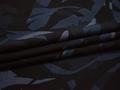 Батист черный синий абстракция хлопок ЕА3101