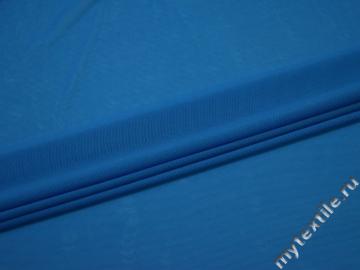 Сетка-стрейч синего цвета полиэстер БД221