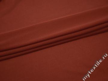 Сетка-стрейч терракотового цвета полиэстер БД211