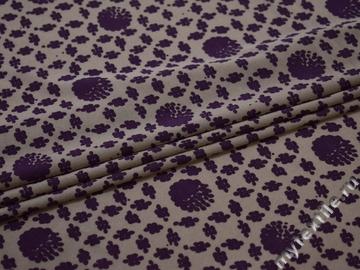 Сетка-стрейч фиолетовая геометрия полиэстер БД234