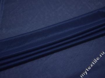 Сетка-стрейч синего цвета полиэстер БД216