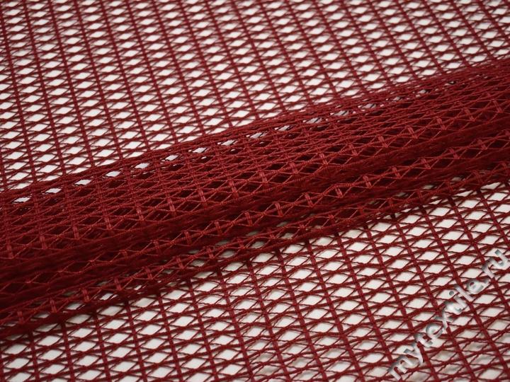 Сетка-стрейч бордовая крупная ячейка БД241