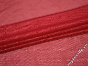 Сетка-стрейч подкладочная красная БГ577