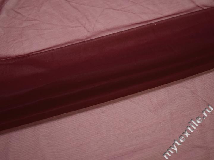 Сетка-стрейч подкладочная бордовая БГ585