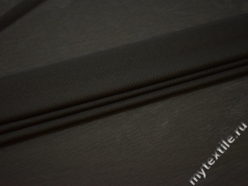 Сетка-стрейч темно-серого цвета полиэстер БГ570