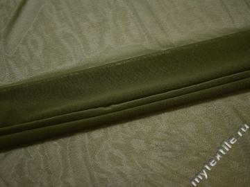 Сетка-стрейч зеленого цвета полиэстер БГ589