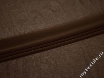 Сетка-стрейч коричневого цвета полиэстер БГ595
