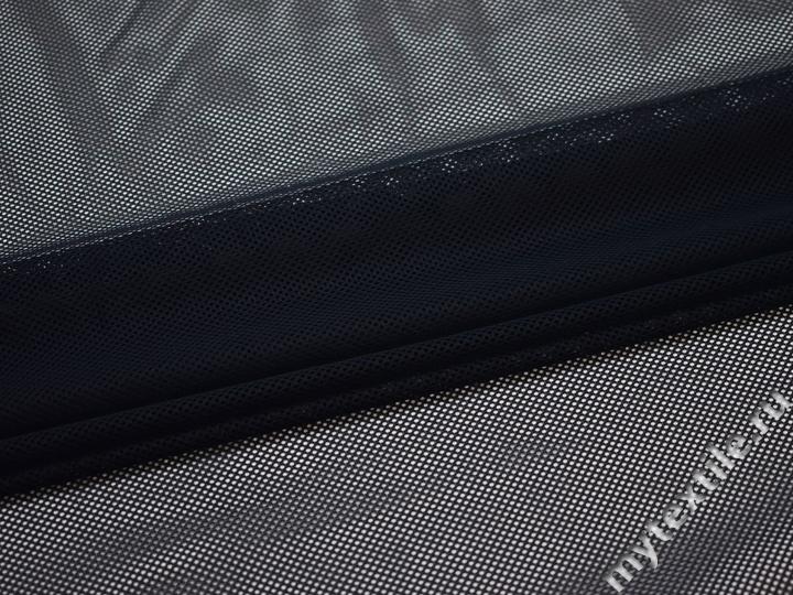Сетка-стрейч подкладочная синяя БД391