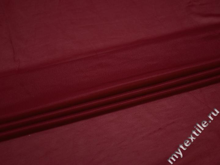 Сетка-стрейч подкладочная бордовая БД313