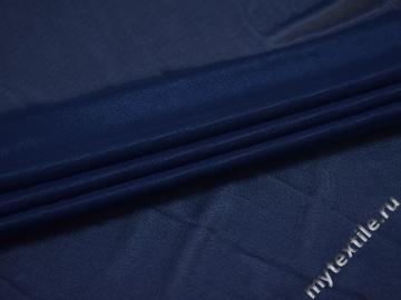 Сетка-стрейч синего цвета полиэстер БД345