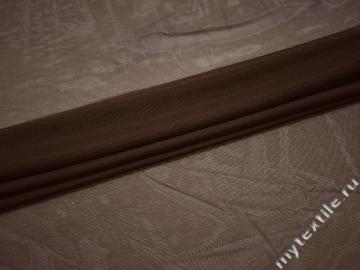 Сетка-стрейч коричневого цвета полиэстер БД347