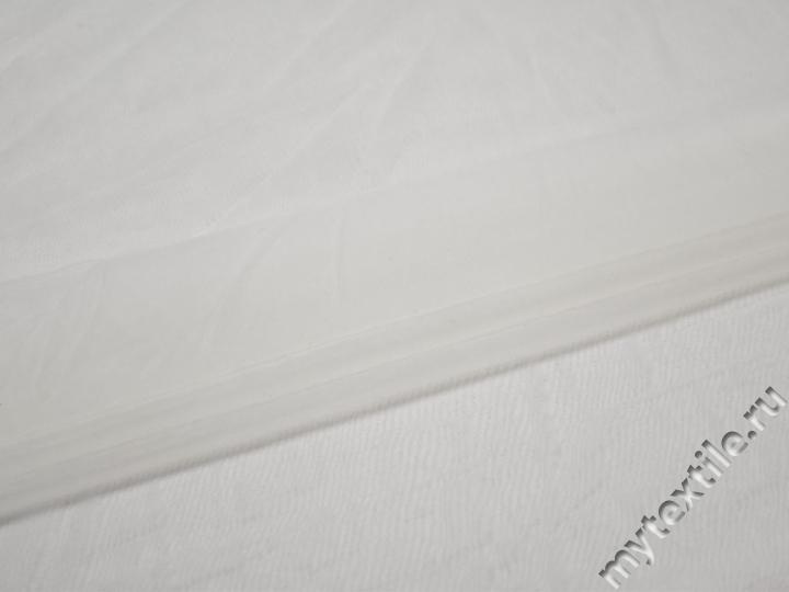 Сетка-стрейч подкладочная белая БД454