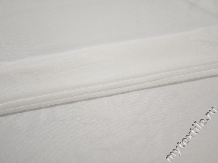 Сетка-стрейч подкладочная белая БД413