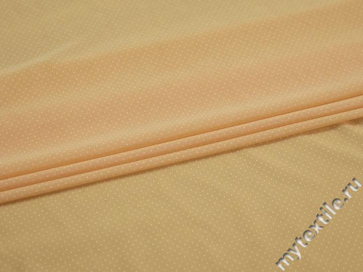 Сетка-стрейч желтая в горох БД420