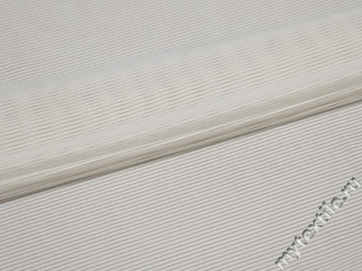 Сетка-стрейч белая фактурная БД428