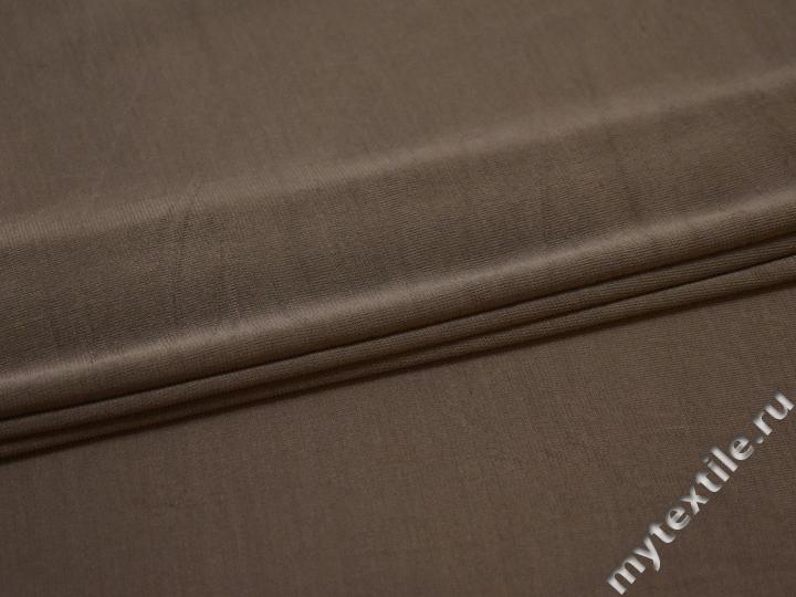 Сетка-стрейч коричневого цвета БД481