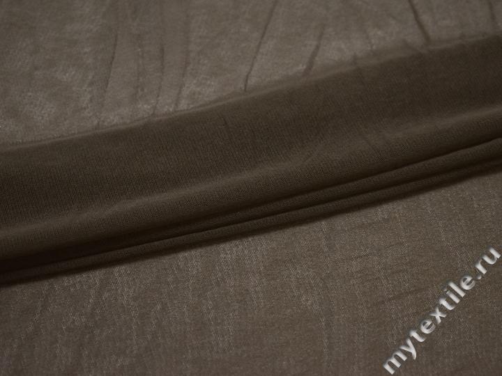 Сетка-стрейч коричневого цвета БД485
