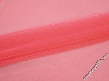 Сетка-стрейч подкладочная коралловая БД559