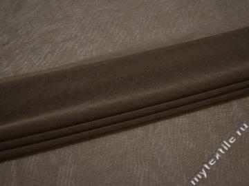 Сетка-стрейч коричневого цвета полиэстер БД518