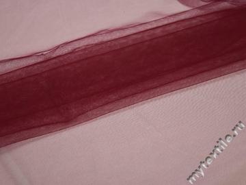 Сетка мягкая бордового цвета БЕ412