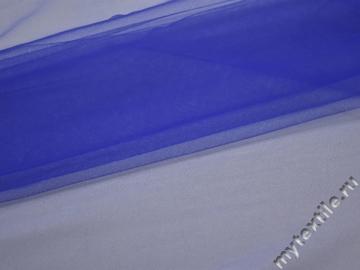 Сетка мягкая синего цвета БЕ424