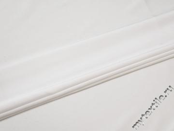 Шёлк-атлас белый полиэстер эластан ЕБ375