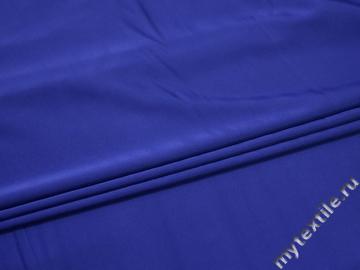 Шёлк-атлас синий полиэстер эластан ЕБ362