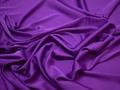 Шёлк-атлас фиолетовый полиэстер эластан ЕБ3104