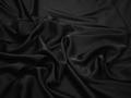 Шёлк-атлас черный полиэстер эластан ЕБ3105