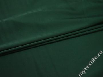 Шёлк-атлас зеленый полиэстер эластан ЕБ3107