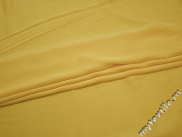 Плательная желтая ткань вискоза эластан БГ264