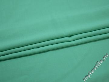 Штапель бирюзового цвета вискоза БГ263