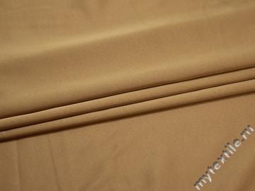 Плательная бежевая ткань полиэстер БГ471