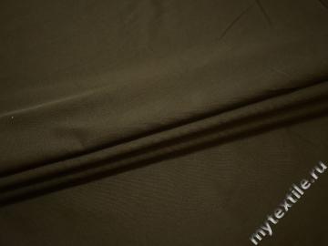 Костюмная цвета хаки ткань хлопок полиэстер ЕВ147