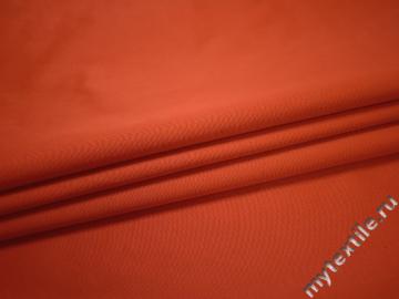 Костюмная оранжевая ткань хлопок полиэстер ЕВ139