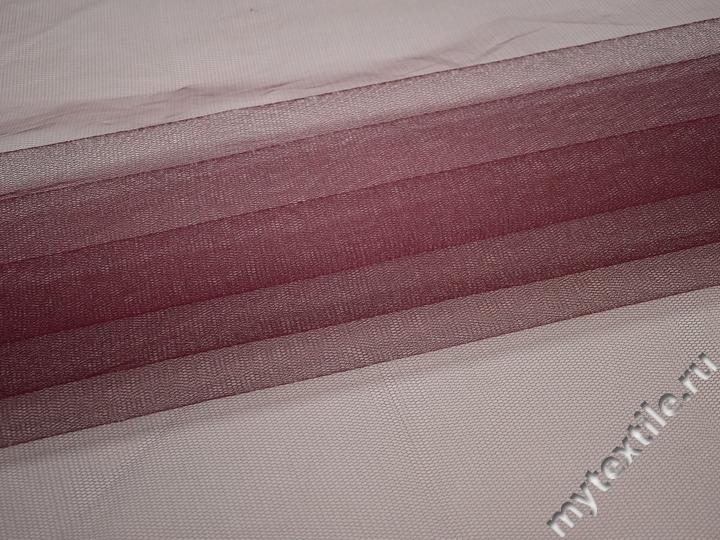 Сетка жесткая бордового цвета БЕ528
