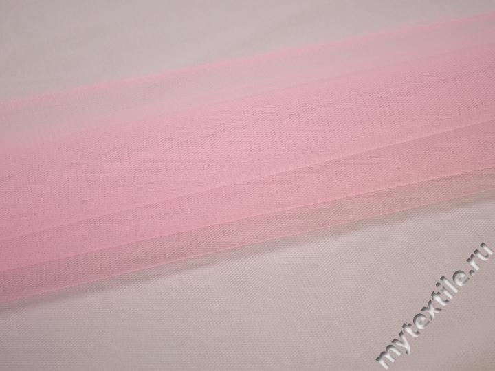 Сетка жесткая розового цвета БЕ57