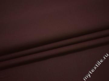 Плащевая бордовая ткань хлопок эластан ЕВ128