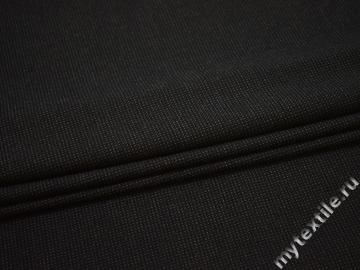 Костюмная черная серая ткань хлопок полиэстер эластан ЕВ110