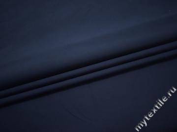 Костюмная синяя ткань хлопок эластан полиэстер ЕВ116