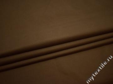 Костюмная коричневая ткань эластан полиэстер ЕВ19